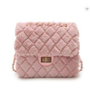 Fur Pink Handbags